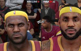 NBA 2K15 vs NBA Live 15 Face Comparisons / Graphics