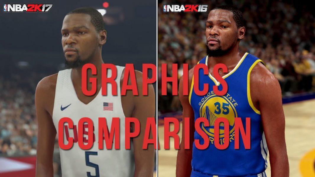 NBA 2K17 vs NBA 2K16 Graphics | NBA 2KW | NBA 2K18 News ...