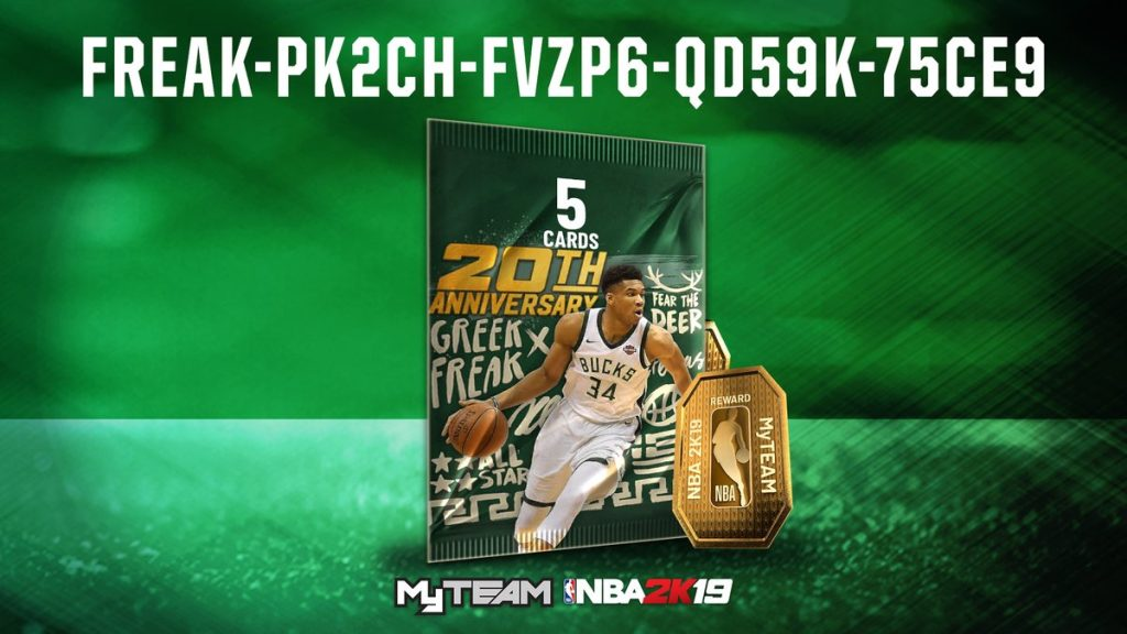 Nba 2k19 Locker Codes Chance At 20th Anniversary Giannis