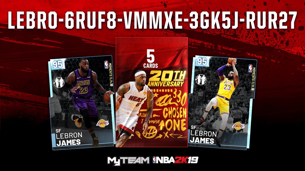 85522504e600 Here is the latest NBA 2K19 Locker Code. This locker code is for a chance at  Pink Diamond LeBron James