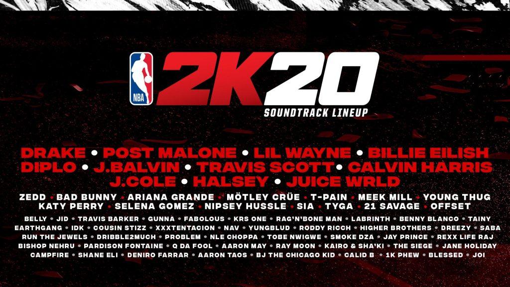 banda sonora de NBA 2k20