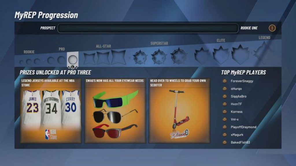 NBA 2K20 Rep Rewards / MyREP Progression & Park Badges (Full